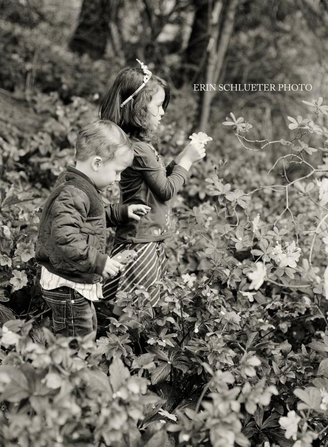 Children's portraits at the arboretum by Erin Schlueter Photo